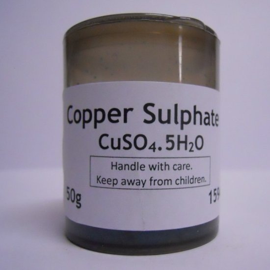Copper Sulphate 50g [CH759] - R14 00 : EXPERILAB, Online Store